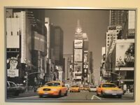 New York Times Square Print & Silver Frame