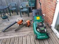 lawnmower,chainsaw and blower
