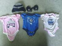 Boy and girl Sports clothing!! Jets, red wings, vikings