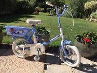"""Vintage Raleigh Bluebird child's bike 12"""" wheels"""