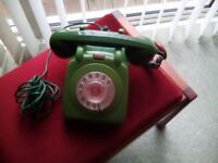 1960's Bakelite phone two tone green