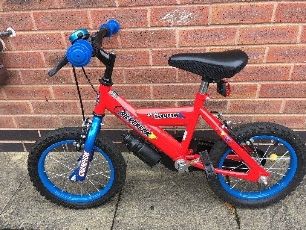 "Silver Fox 14"" Kids bike in very good condition"