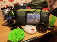 6 Man Regatta tent. 4 sleeping bags, 2 stoves and everything else in the pic. Pick up only