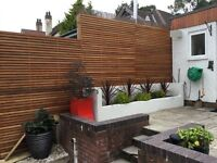 Western Red Cedar fence panels 1800mm x 600mm to give your garden a contemporary look