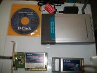 D-Link DI-624 Wireless Router and Laptop Wireless Adapter
