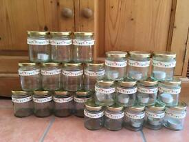 Jars - for tea lights/cutlery at weddings/parties; jam/chutney jars