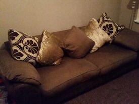 4 Seater Sofa, Chair & Pouffe