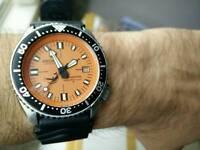 Seiko automatic divers watch custom
