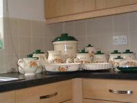 Cloverleaf Peaches & Cream Ceramic Kitchen Set