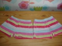 Girls Mini Boden Towelling Shorts x 2 Age 5 - 6 Years