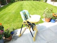 CHICCO High chair folding adjustable good condition