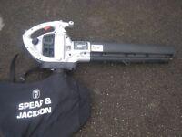 Spear & Jackson Petrol Leaf Blower / Vac, 1st Time Starter, Good Condition