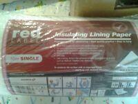 Insulating lining paper 5 rolls. New.