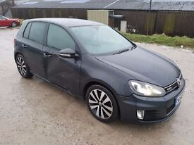 2010 VOLKSWAGEN GOLF GTD 2.0 TDI 170 BHP 5 DOOR HATCHBACK GREY VERY LIGHT DAMAGED
