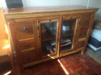 Quality solid wood living room furniture.