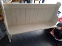 Church pew bench in hood condition just needs painting to be finished