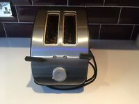 Tefal Double Toaster Silver and Black