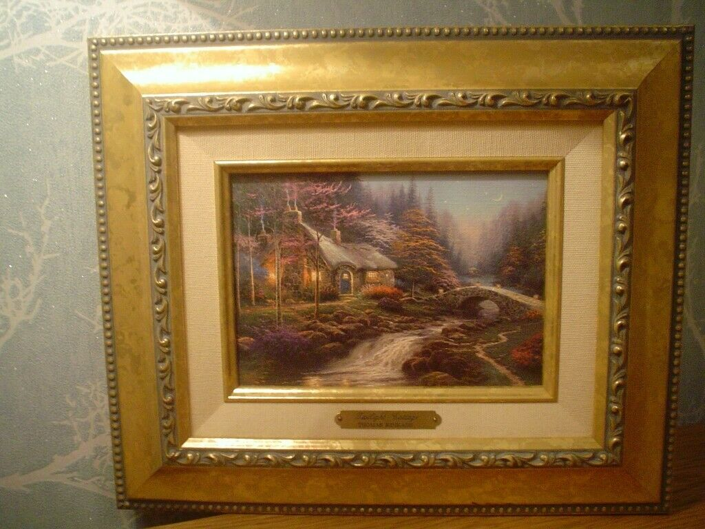 Admirable Painter Of Light Thomas Kinkade Twilight Cottage Brushwork In Cowdenbeath Fife Gumtree Home Interior And Landscaping Ologienasavecom