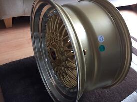 "BBS RS style brand new Alloy wheels 17"" inch 4x100 Suzuki Alto Ignis Swift Peugeot 108 alloys wheel"