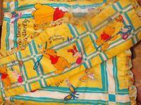 Winnie The Pooh cot quilt & bumper