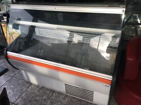 a used good condition serve over counter chiller