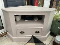 Painted pine tv cabinet