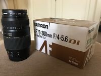 Tamron AF70-300mm F/4-5.6 di LD MACRO 1:2 lens For Canon