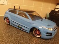 TAMIYA TT02 1/10 SCALE BRUSHLESS RC DRIFT CAR,RANGE ROVER,LIPO,FAST,2.4GHZ,TT-02,EVOQUE