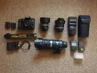 Nikon D750 Camera and lens With many accessories