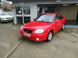 Hyundai Accent5dr1.6CDX 58K 2 owners VGC FullMOTServiceCambeltWarranty all included extras air con