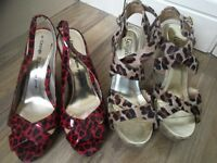 Size 5 Red Wedge Style Sandals in immaculate condition