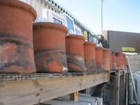 Old Terracotta Chimney Pots / Flower Pots, Look Lovely In The Garden. (STARTING AT ONLY £20)