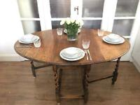 GENUINE ENGLISH ANTIQUE TABLE FREE DELIVERY LDN🇬🇧OAK WOOD