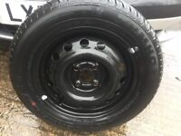 VAUXHALL STEEL WHEEL AND BRAND NEW TYRE