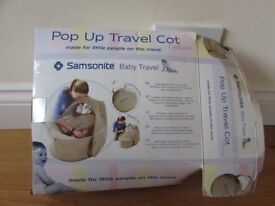 Samsonite Pop Up Travel Cot Beige