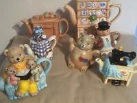 Collection of Collectable Novelty Teapots