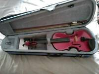 Stentor Violin full size raspberry, purple colour