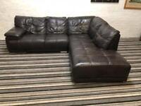 Gorgeous sofaology leather corner sofa