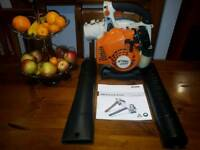 stihl bg85 handheld leaf blower in perfect condition as good as new like bg86c