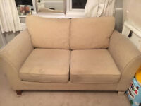 Marks & Spencer Beige Two - Seater Sofa - Bed Good Condition
