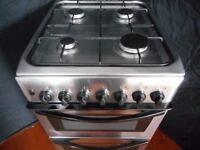 INDESIT DOUBLE ALL GAS COOKER**STAINLESS/STEEL**