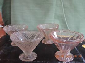 Art Deco Sundae/ice cream/jelly Glasses