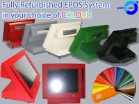"CUSTOM COLOUR 12.5"" epos till System with MSR Reader, Customer Display, Cash Drawer & Software"