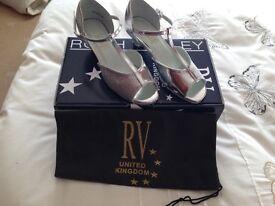 Silver Ballroom Shoes size 2 1/2