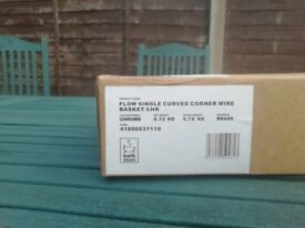 Bathstore, Corner Flow Shower basket. Rrp £29. Unused and still in box with all fittings