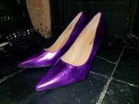Metallic purple stiletto heels size 6