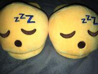 Emoji slippers (size small)