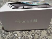 Iphone 4S Black complete with charger headphones in original box