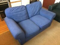 Blue Comfy 3/2 Seater Sofa in very good condition.