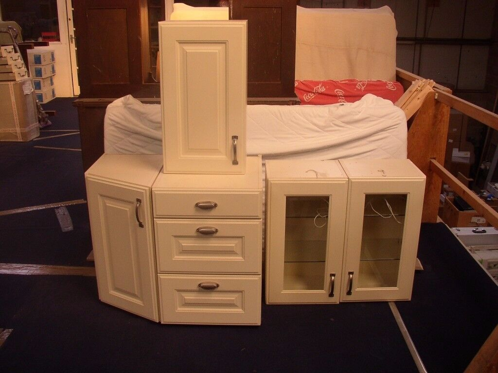 Ex Display Kitchen Units In Bone Colour